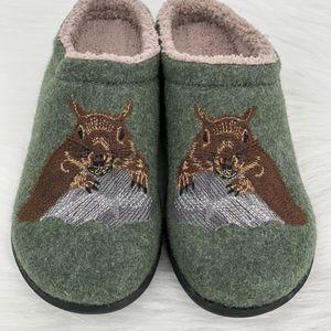 Very Rare L.L. BEAN Squirrel Women's Slippers 8